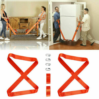 Pair Shoulder Dolly Moving Lifting Straps Forearm Forklift Strap Furniture Cargo