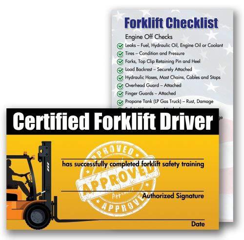 Forklift Certification Training Cards Package Of 10 Buy Online In Vietnam At Desertcart Productid 12333453