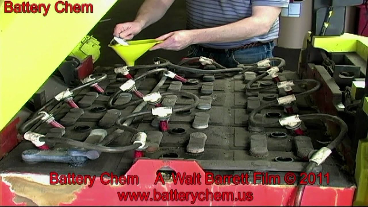 How To Recondition Electric Forklift Batteries Save 6 000 00 By Walt Barrett Youtube