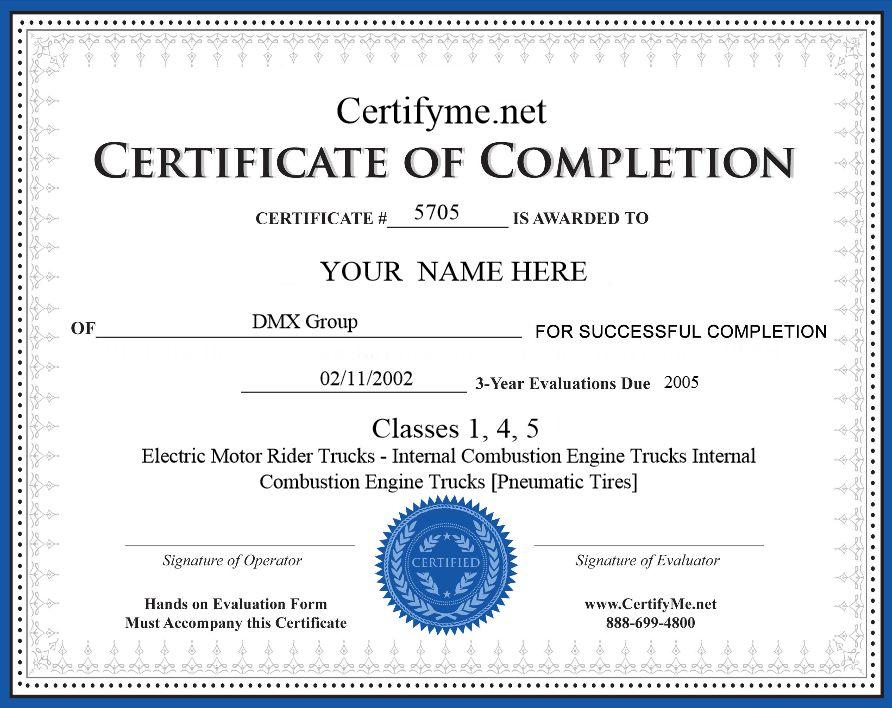 Get Your Osha Forklift Certification Card With Certifyme Net