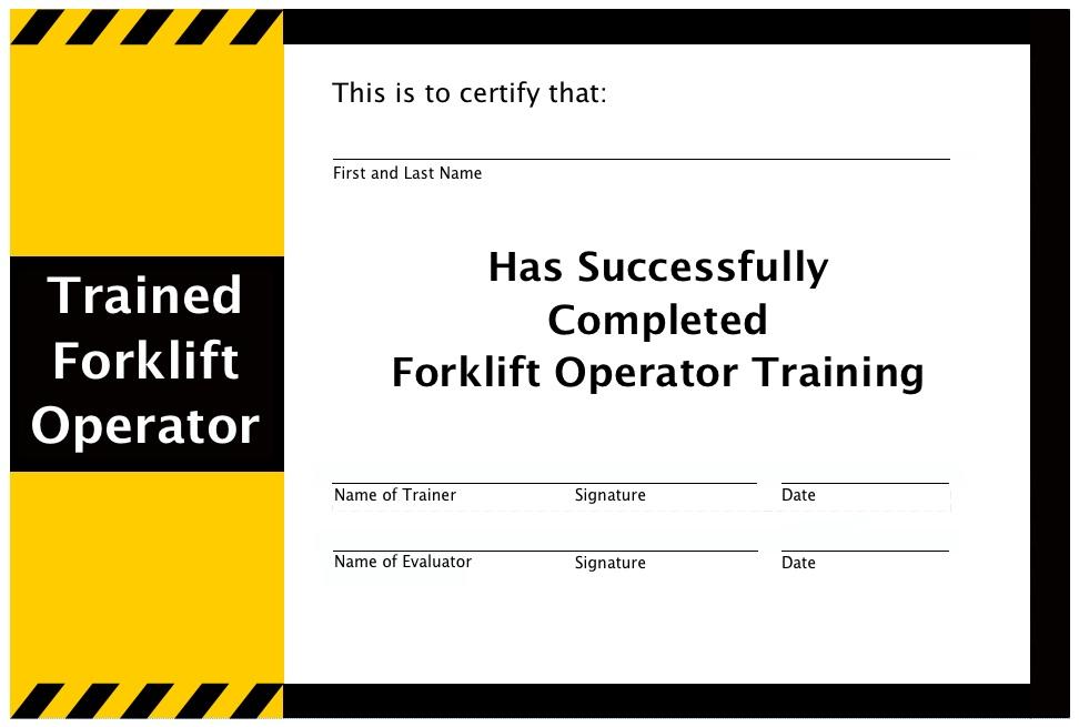 Forklift Training California California Forklift Training